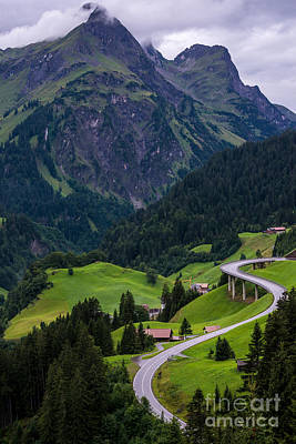 Stormy Village Of Schrocken - Austrian Alps  Poster