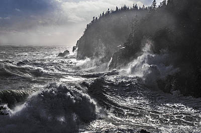 Stormy Seas At Gulliver's Hole Poster by Marty Saccone