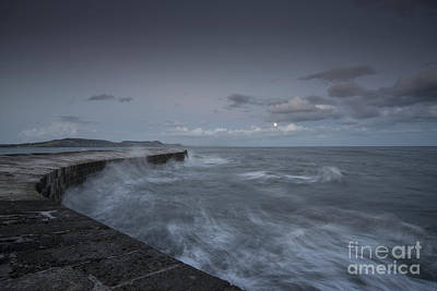 Stormy Seas At The Cobb  Poster by Rob Hawkins