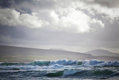 Stormy Seas On Ireland S Wild Atlantic Poster by Peter McCabe
