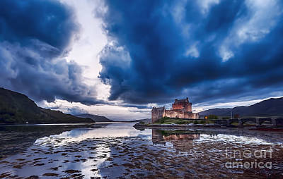Stormy Skies Over Eilean Donan Castle Poster