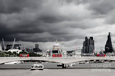 Stormy Skies Over London Poster