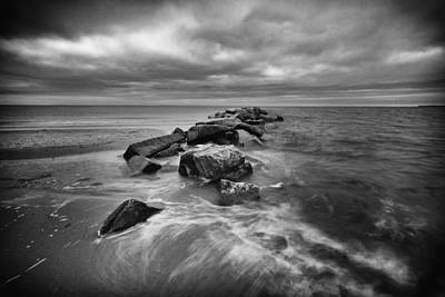 Stormy Sunken Meadow Poster by Mike Lang