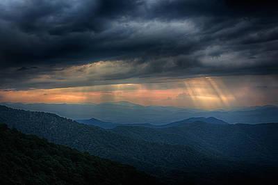 Stormy Sunset Poster by John Haldane