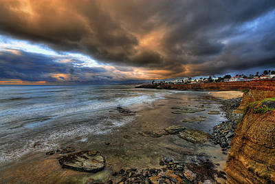 Stormy Sunset Poster by Peter Tellone