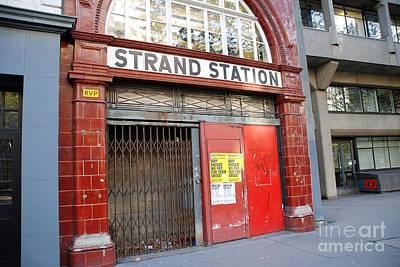Strand Station London Poster