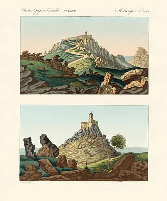 Strange Abbeys In Portugal Poster by Splendid Art Prints