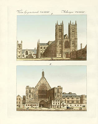 Strange Buildings In London Poster by Splendid Art Prints