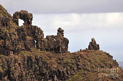 Strange Rock Formation Poster by Sami Sarkis