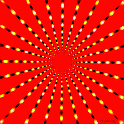Strange Sun Rays Poster