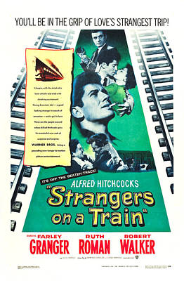 Strangers On A Train - 1951 Poster by Georgia Fowler