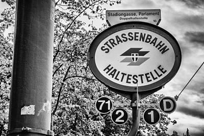 Strassenbahn Haltestelle Poster by Pablo Lopez