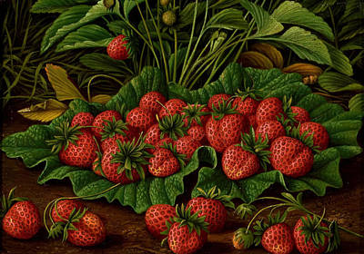 Strawberries Poster by Levi Wells Prentice