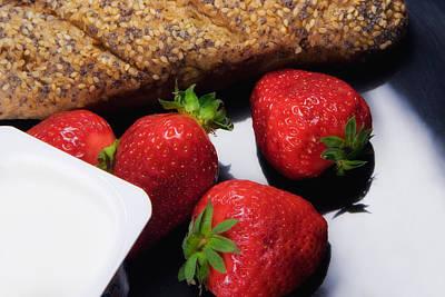 Strawberry And Yogurt Poster