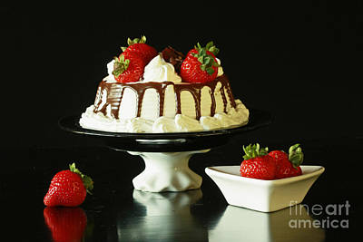 Strawberry Chocolate Dream Cake Poster by Inspired Nature Photography Fine Art Photography