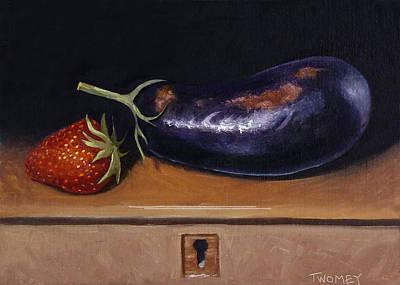 Strawberry Eggplant Locked Poster