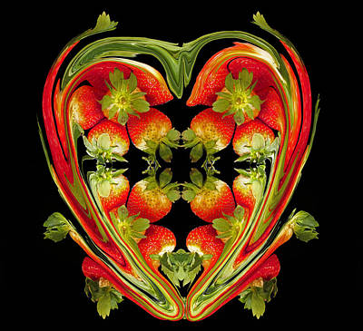 Strawberry Heart Poster by David Pantuso