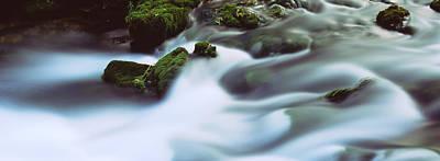 Stream Flowing Through Rocks, Alley Poster