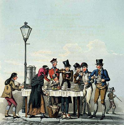 Street Breakfast Engraved By G.hunt Poster by English School