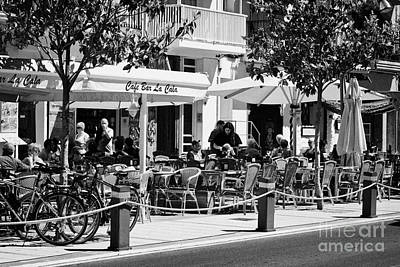 street cafes and bars Cambrils Catalonia Spain Poster