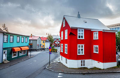 Street In Reykjavik Poster by Alexey Stiop