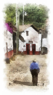 Street In San Sebastian Poster