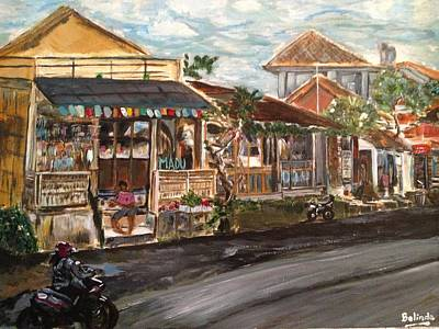 Poster featuring the painting Street Life by Belinda Low