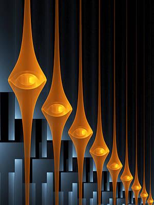 Poster featuring the digital art Street Lights by Gabiw Art