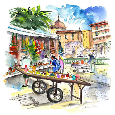 Street Merchants In Ortigia 02 Poster by Miki De Goodaboom