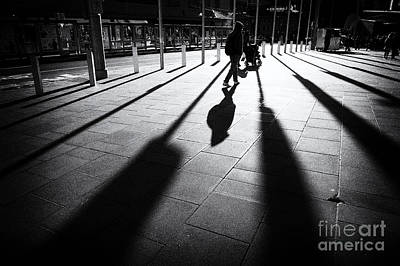 Poster featuring the photograph Street Shadow by Yew Kwang
