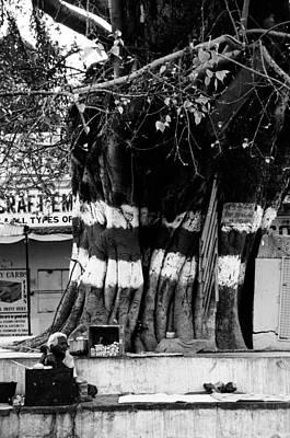 Street Tea Stall Poster by Money Sharma