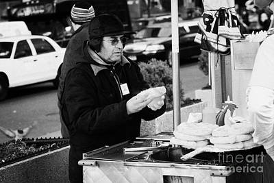 Street Vendor Selling Hot Dogs New York City Poster by Joe Fox