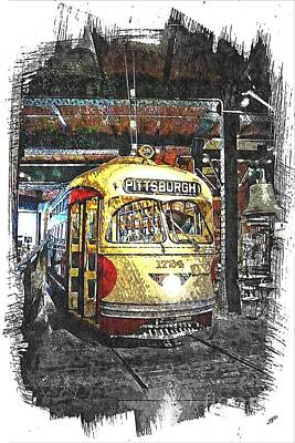 Pittsburgh Streetcar 1724 Poster by Spencer McKain