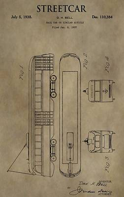 Streetcar Patent Poster by Dan Sproul