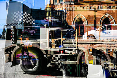Streetcars And Trucks Poster by Tommytechno Sweden