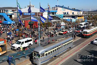 Streetcars At Pier 39 San Francisco California 5d26055 Poster