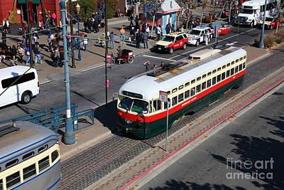 Streetcars At Pier 39 San Francisco California 5d26060 Poster