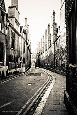 Streets Of Cambridge - For Eugene Atget Poster