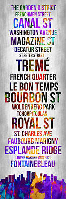 Streets Of New Orleans 1 Poster by Naxart Studio