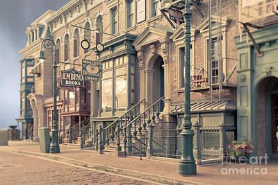 Streets Of Old New York City Tilt Shift Poster