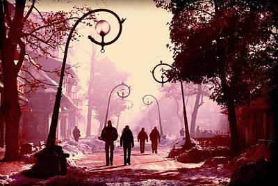 Streets Of Zakopane. Poster by Beata  Czyzowska Young