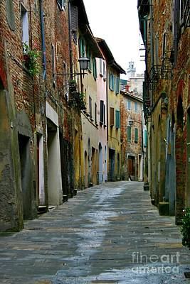 Streetscape Tuscany Poster