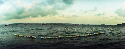 String Of Balloons On The Bosphorus Poster by Panoramic Images