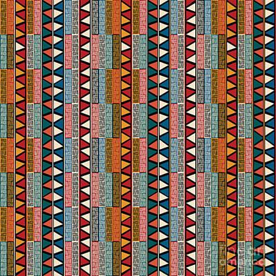 Strip Ethnic Seamless Pattern Poster
