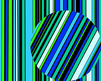 Striped Circle  C2014 Poster by Paul Ashby