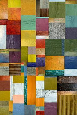 Strips And Pieces V Poster by Michelle Calkins