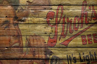 Strohs Beer Poster