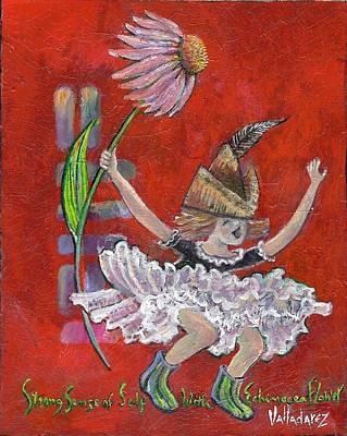 Strong Sense Of Self - Flower Essence Series Poster by Maria Valladarez