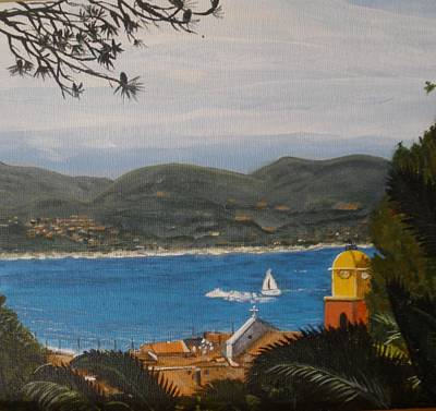 Poster featuring the painting St.tropez France by Betty-Anne McDonald