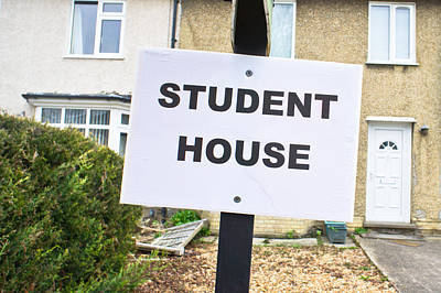 Student House Poster by Tom Gowanlock